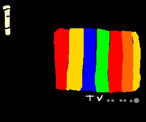 TV test pattern. Beeeeeeeeeeeeeeeeeeeeeeeeeeeeep