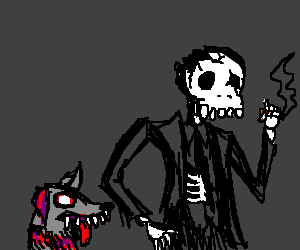 A dead smoker and his dog