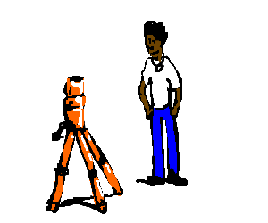 Marlon Wayans at an orange stand