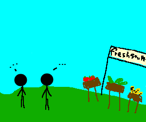 2boringpeople meet @ farmersmart, boredom ensues