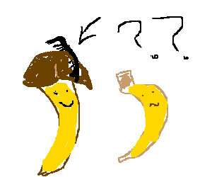 Confused banana cant find his comb