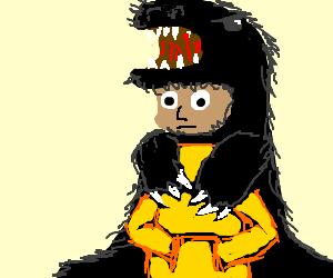 Russian with bearskin hat.