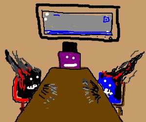 2 burnt pixels at a meeting