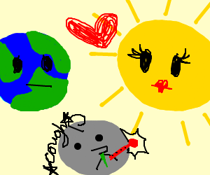 The sun and the earth have an ill child