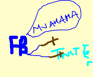 Facebook striking messy Twitter with a Cross