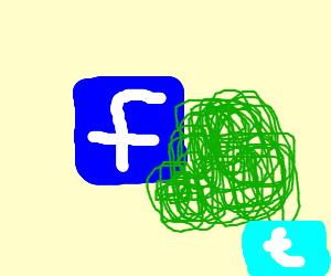Facebook stalking (behind a bush)
