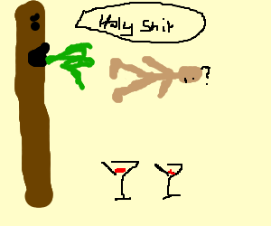 Chocolate finger cocktail party sick human convo