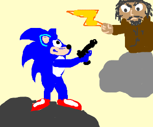 Sonic gains Zeus' powers during a workout.