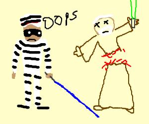 Prisoner accidentally kills a Jedi
