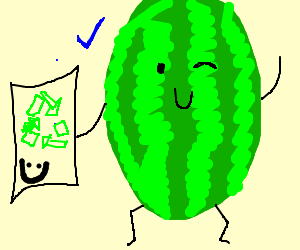 Watermelon supports recycling