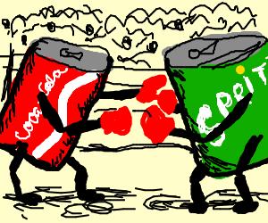 Coca Cola can vs Sprite can: boxing match