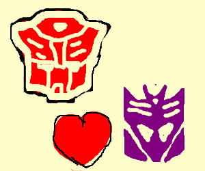 An Autobot falls in love with a Decepticon.
