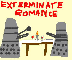 Delightful Dalek dinner for deux