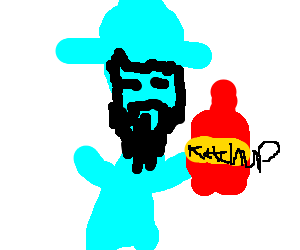 Ghost pirate LeChuck loves ketchup