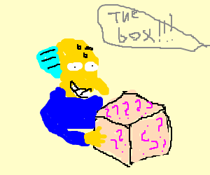 box with unknow subject
