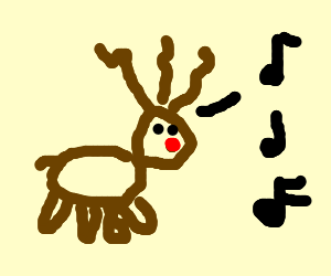 Dancing reindeer singing