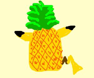 a Pikachu-pineapple hybrid