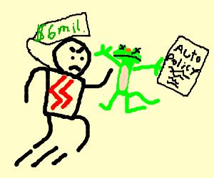 fascist 6 million dollar man hates car insurance