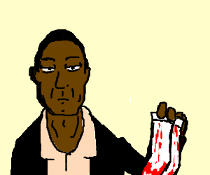 OJ Simpson with bloody socks