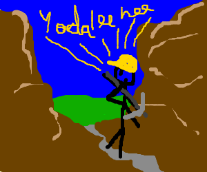 yodelling miner traverses mountain pass