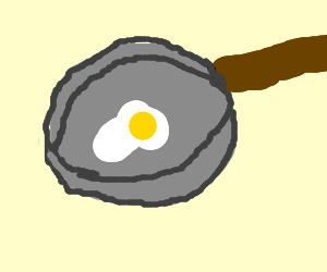 Cooking a fried egg (dk how to say this srry)