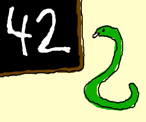 the snake knows the answer to everything