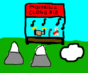 band plays concert for mountains and clouds