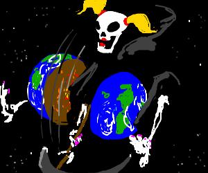 girly Death chops world in half