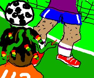 Jamaican Medusa VS Soccer Goalie