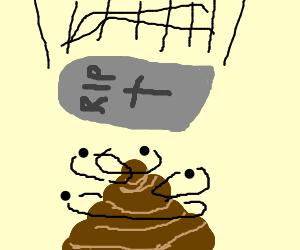 Tombstone landing on Poop swirlie.