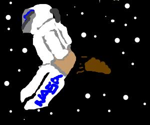 Nasa astronaut releases astro-turd