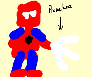 Spiderman Suffering From Premature E'web'ulation