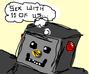 Robot fantasises about having a threesome