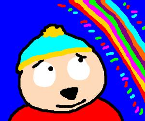 cartman looking at the rainbow