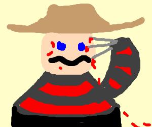 freddy crugher cutting his own face