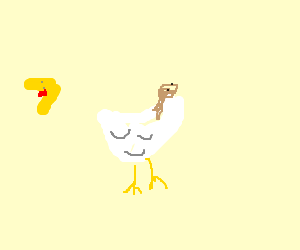 Deconstructivist interpretation of a chicken