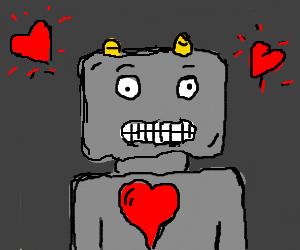 a robot that feels love