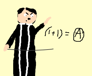 Hitler priest explains that math equals anarchy.