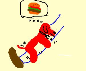 Clifford The Dog Humps A Leg, Dreams Of Burger