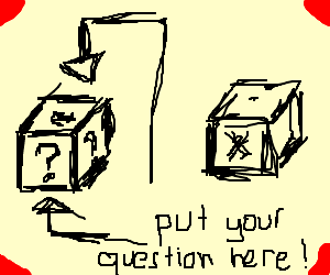 place your questions in the left box