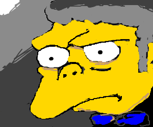 mow from simpsons threatens to pwnd your face