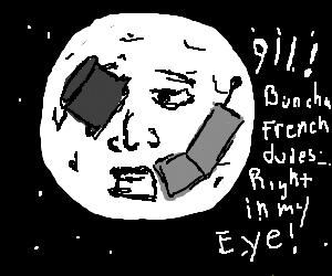 The moon takes a phone call