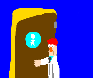 Beaker accidentally enter Women's Bathroom