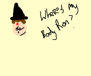Harry Potter has lost his body and informs Ron
