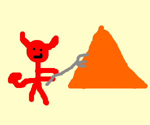 the devil stabbing a triangle :)
