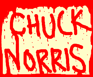 chuck norris (written with blood) facts