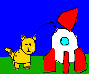 picatchu captured by a rocket
