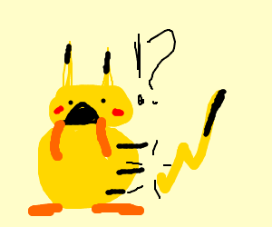 """No, pikachu!! Why is your tail detached?!!"""