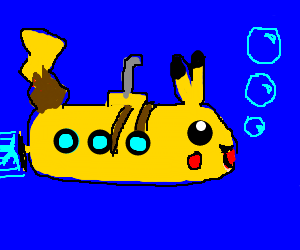 Pikachu Yellow Submarine is incognito.