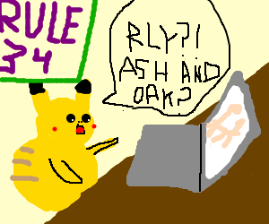 Pikachu discovers rule 34...is scared for life